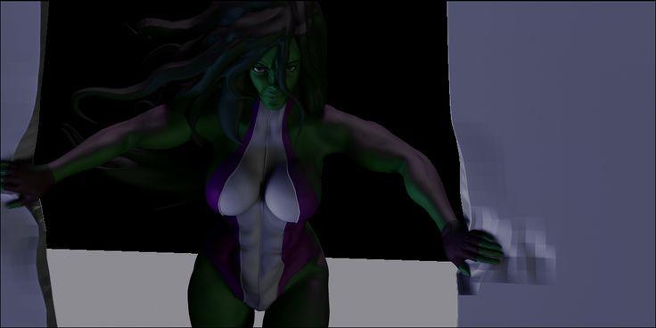 WIP She Hulk Zbrush project