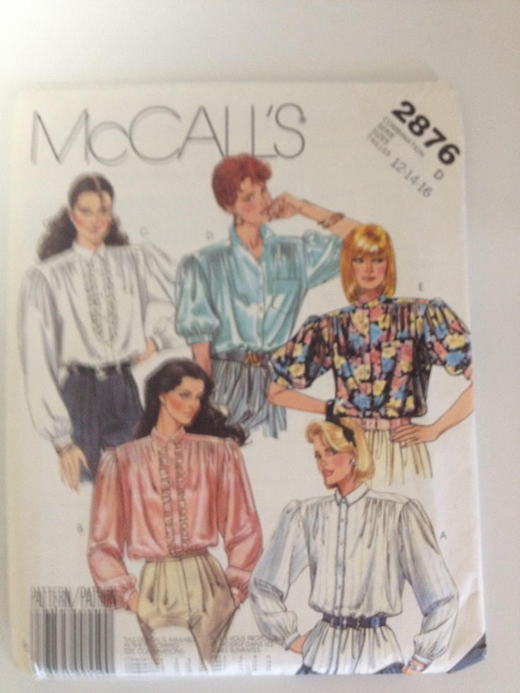 1980's Lady's clothing patterns