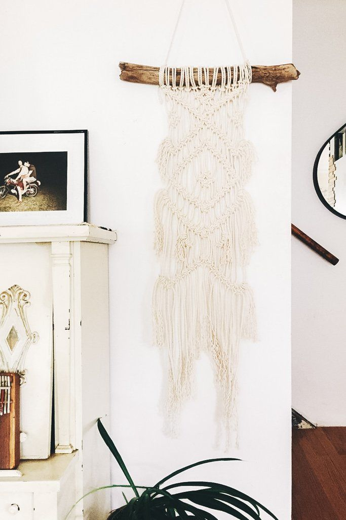 This beautiful macrame wall hanging will add a bit of handmade delight to your home! Made with 100% cotton rope on a piece of foraged driftwood found on my favorite Oregon beach. Each piece of wood is