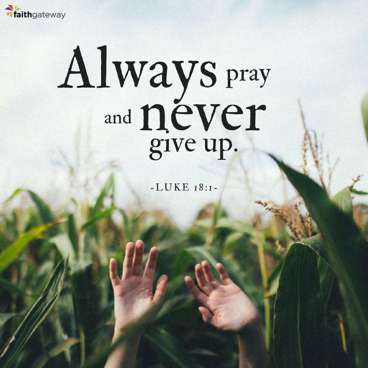 perseverance in prayer