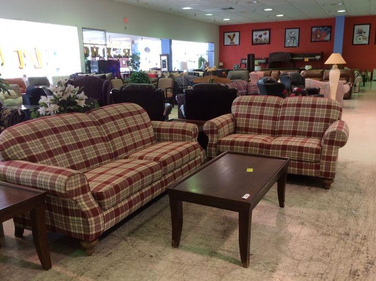 Plaid Sofa And Loveseat