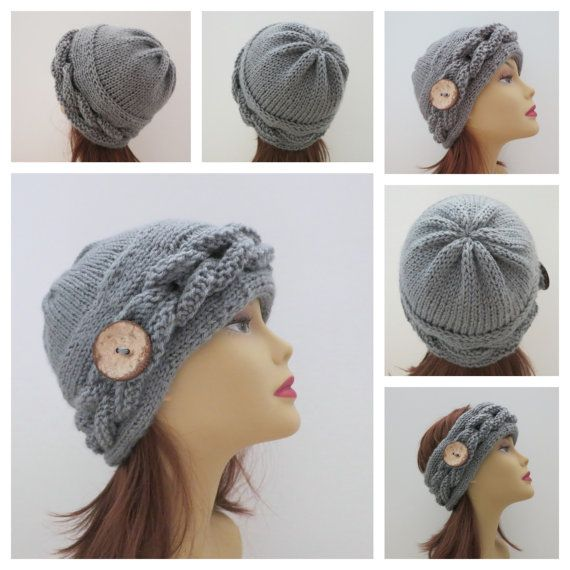Knitting Hat Pattern PDF 180 The Rochelle Hat por WomanOnTheWater