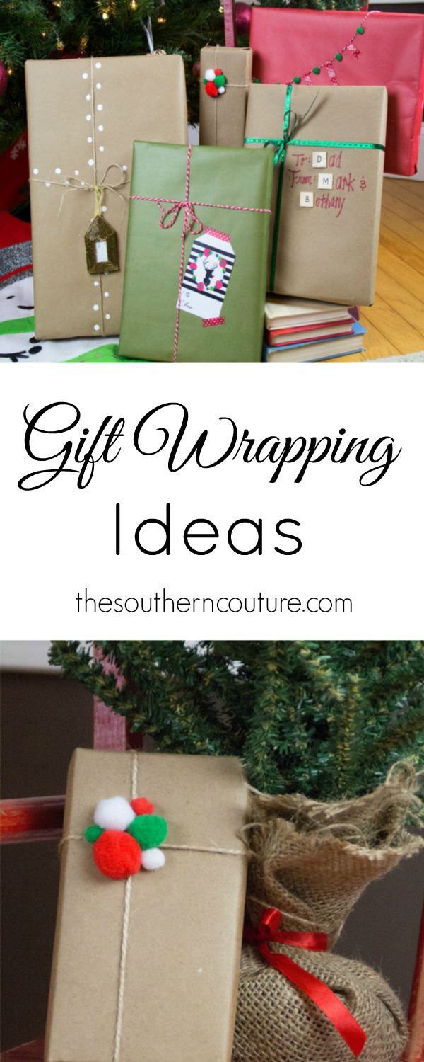 Christmas Gift Wrapping Ideas Using Kraft Paper