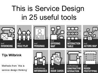 This is Service Design in 25 useful tools