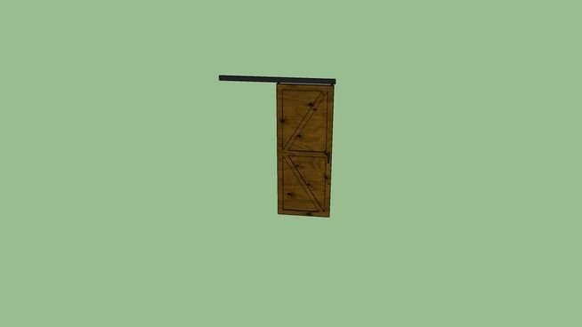 Large preview of 3D Model of Sliding Barn Door