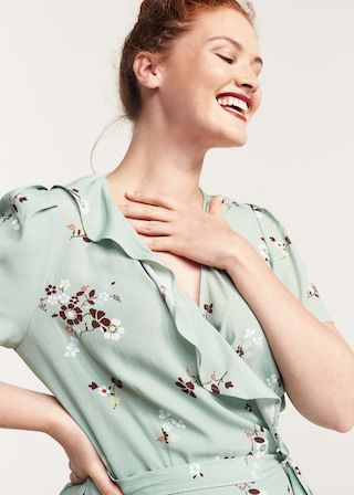 Sukienka kopertowa ze wzorem | VIOLETA BY MANGO
