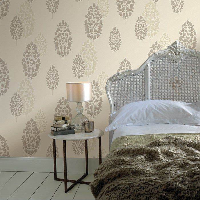 Lucy Natural Wallpaper by Graham and Brown