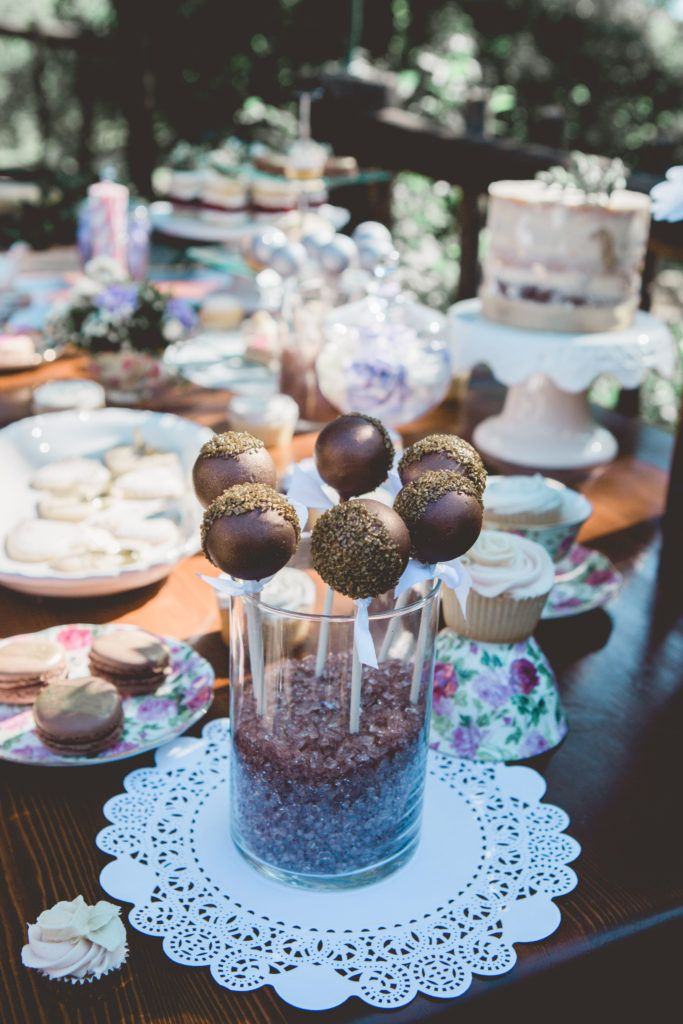 cakepops desert buffet styled bridal tea party editorial photoshoot
