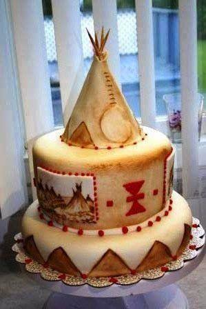 White Wolf : 10 Amazing Native American Birthday Cakes (PHOTOS)