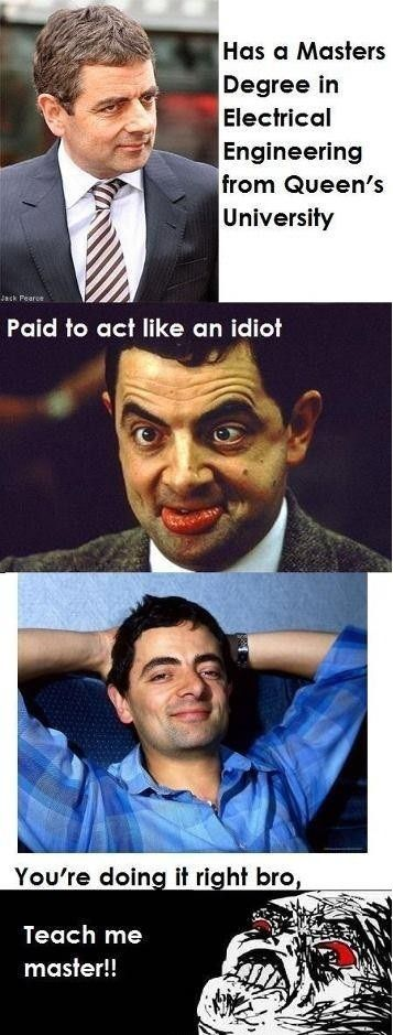 Mrbean has a master degree in electrical engineer