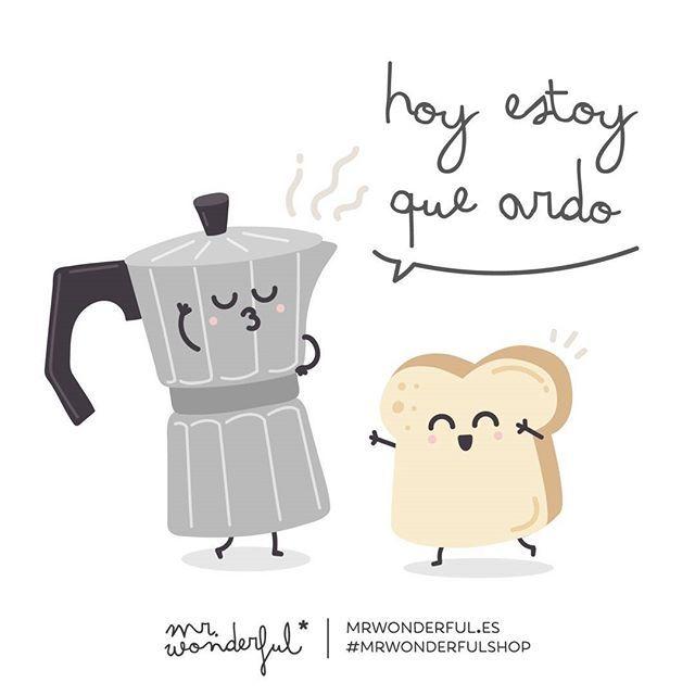 WEBSTA @ mrwonderful_ - Con este #lunes tan emocionante y después de desvelar las portadas de las #agendaswonder, nos merecemos un buen café. #mrwonderfulshopToday I am on fire. On such an overwhelming Monday, after revealing the covers for the wonder diaries, we deserve a good coffee.