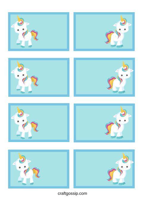 Free Printable Unicorn Party Gift Tag Craft For Kids Unicorn