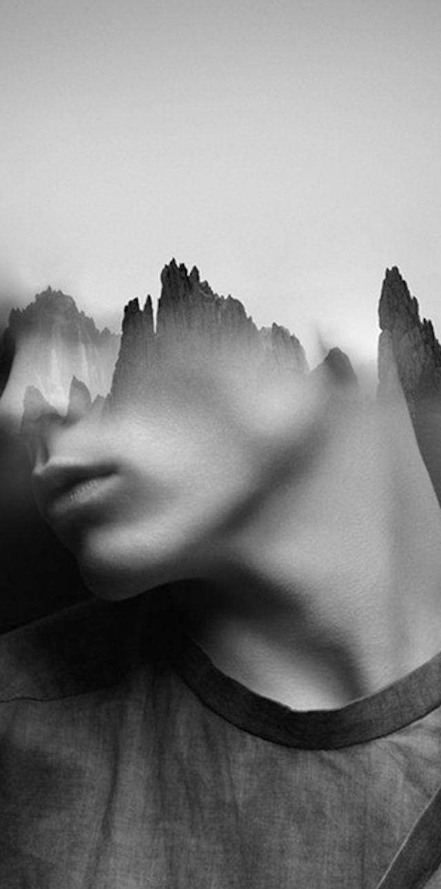 Double Exposure Portraits by Antonio Mora  L'artiste espagnol Antonio Mora fait portraits de femmes et d'hommes en double exposition d'éléments naturels : des vagues, des paysages montagneux ou des animaux et plantes viennent se juxtaposer aux visages des modèles. Ses portraits sensuels et élégants sont à découvrir en images.