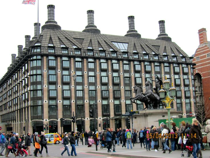 Portcullis House, Westminster, London. This is where many MP's have offices and where Select Committees meet.
