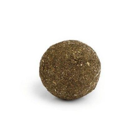 Deze bal bestaat voor de volle 100 procent uit catnip en is dus zeer zeker een speeltje waar uw kat dol op zal zijn. Catnip heeft namelijk een zeer grote aantrekkingskracht op katten. Voor urenlang speelplezier.