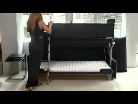 The Palazzo Bunk Bed System, An Innovative Wall Bed Design That Transforms  From A Sofa