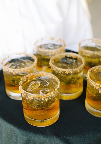 Maple-Bacon Manhattans from the PPHG culinary team for your holiday or end-of-year event | Lowndes Grove Plantation in Charleston, South Carolina | Photo by Aaron and Jillian