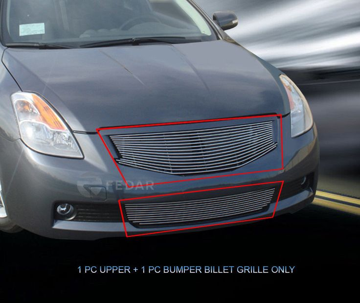 Nice Nissan 2017: Fits 2008-2009 Nissan Altima Coupe Billet Grille Grill Combo Check more at https://24auto.ga/2017/nissan-2017-fits-2008-2009-nissan-altima-coupe-billet-grille-grill-combo/
