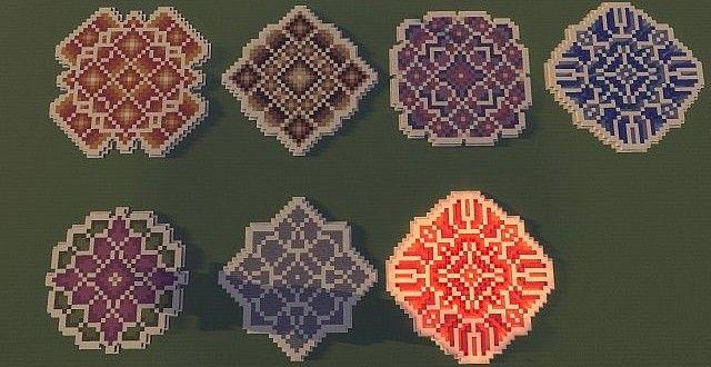 Minecraft floor pattern ideas! Look really fancy, don't they!