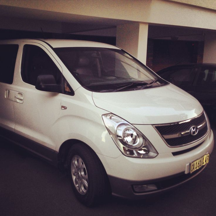 Hyundai H1 8 seater. This star of a minivan is one of the best and fuel-efficient that we offer for hire!