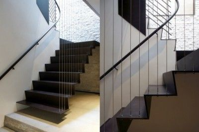 Steel Treads And Risers Protruding From A Wall Supported