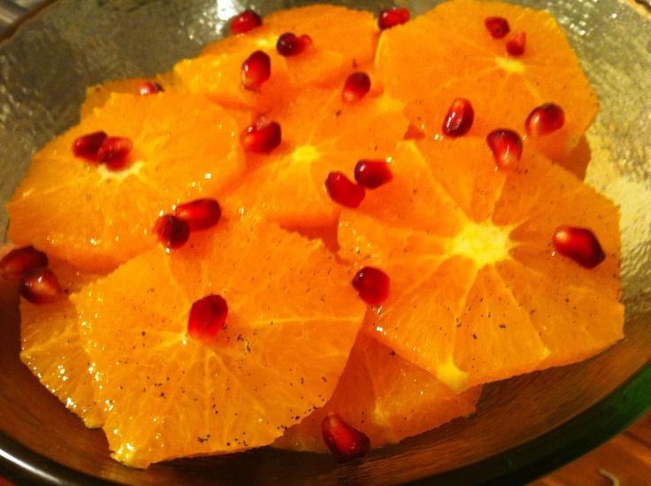 Orange Carpaccio - go to Peggy Knickerbocker's recipe link