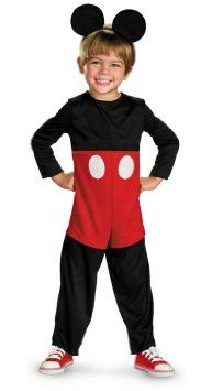 Mickey Mouse Basic Toddler Costume 3T-4T Halloween Costume