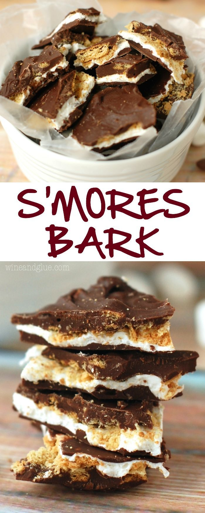 Smores Bark | Like a yummy, amazing inside out s'mores that you don't even need a camp fire for!