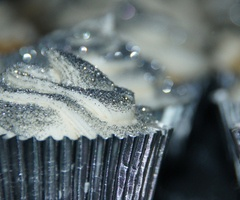 winter all over a cupcake