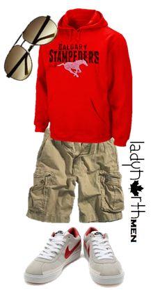 Calgary Stampeders summer outfit by LadyNorth, Canadian, hoodie