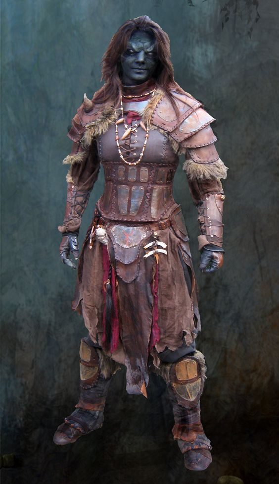 Very female orc warrior turns out?
