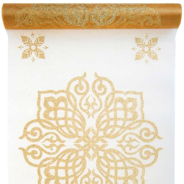 chemin de table mariage oriental or mariage promofr vente accessoires et - Chemin De Table Color