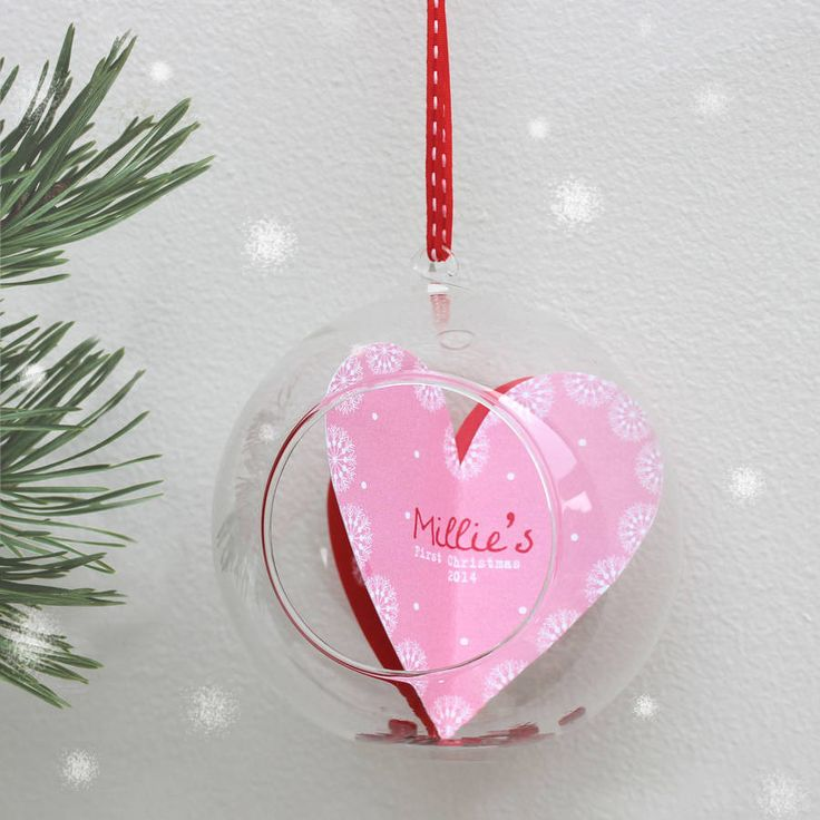 Personalised Babyu0027s U0027First Christmasu0027 Bauble Part 54