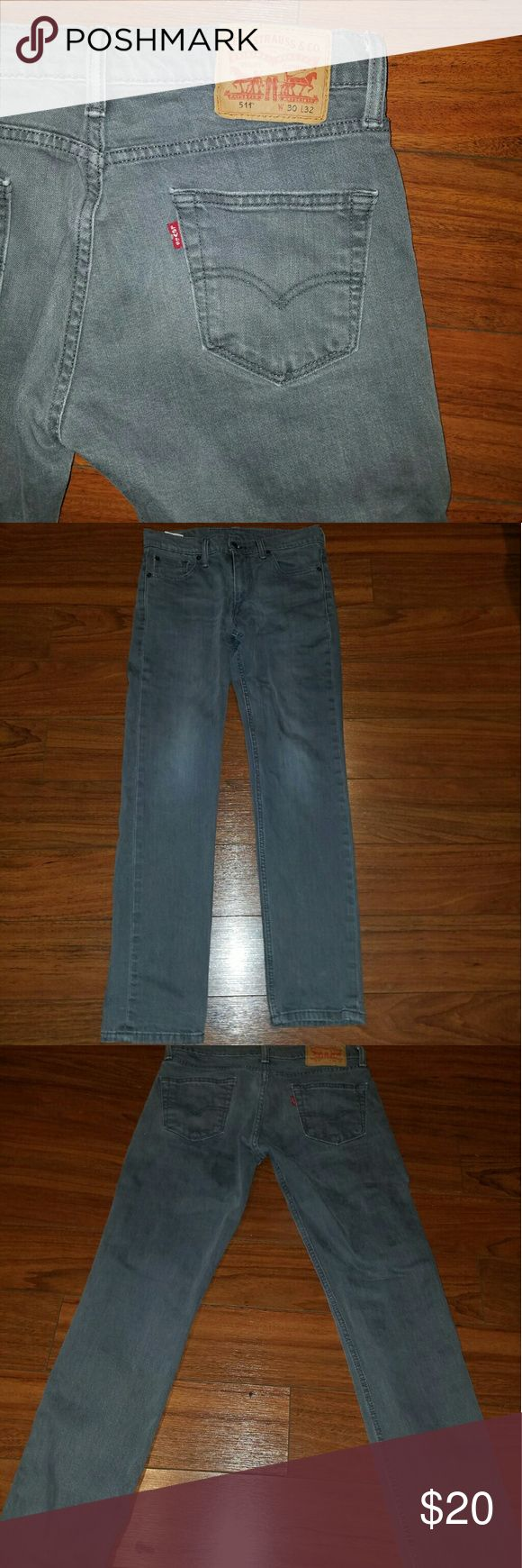 Mens 511 Levi Jeans Grey 511 Jeans  30W 33L Worn only a couple times Make an offer! Levis Jeans Slim