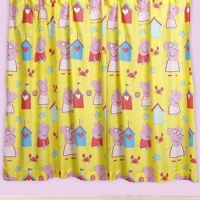 """#Peppa pig seaside character curtains 66"""" x 54"""" #children / #junior,  View more on the LINK: http://www.zeppy.io/product/gb/2/170979011558/"""