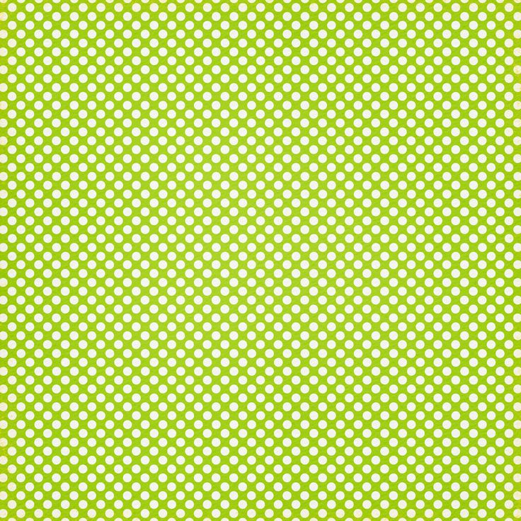 White dots on lime green