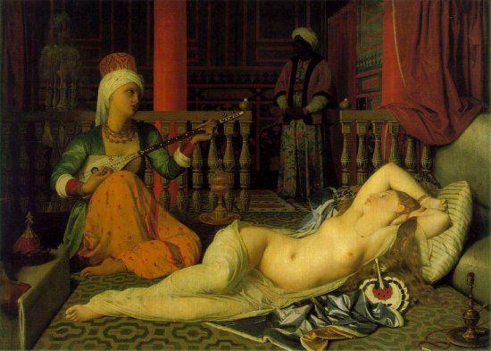 Titel: Odalisque Kunstenaar: Jean Dominique Ingres Datum: 1814 Materiaal: Olieverf op doek Museum: Louvre, Parijs Stroming: Neo-Classicisme