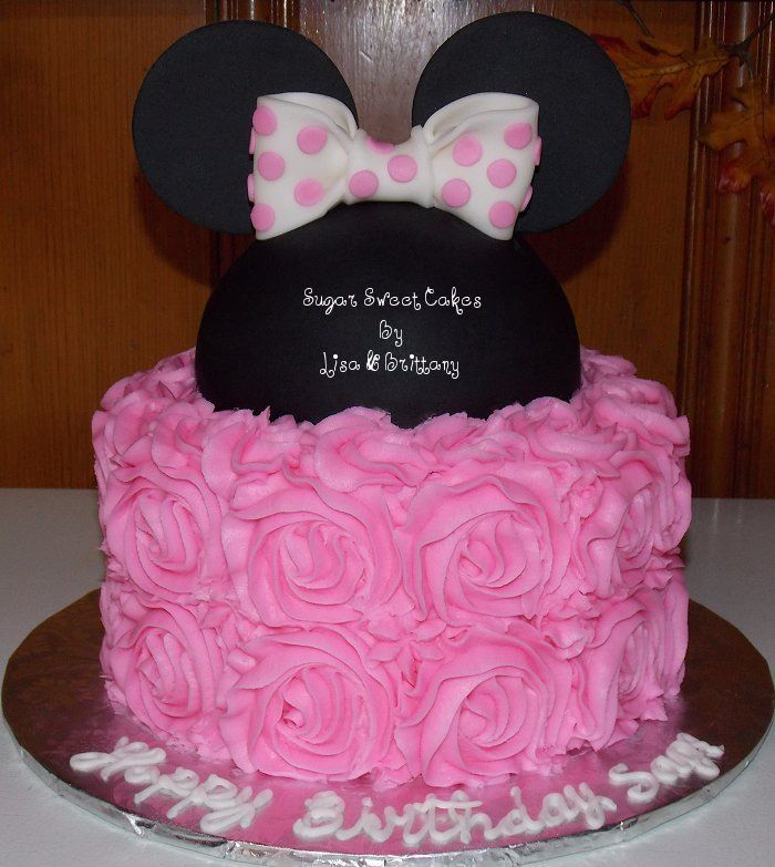 Roses & Minnie Mouse Cake