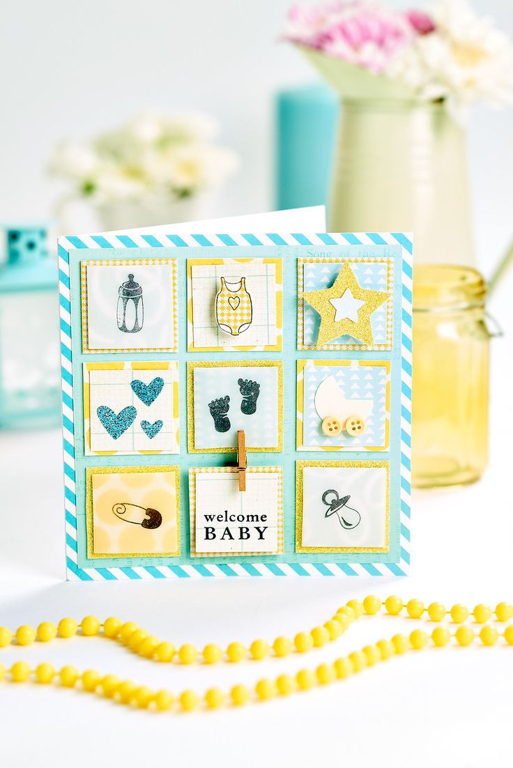 Baby scrapbook ideas uk - Welcome A New Baby With This Adorable Card Papercrafter Issue 87 Www Papercraftermagazine