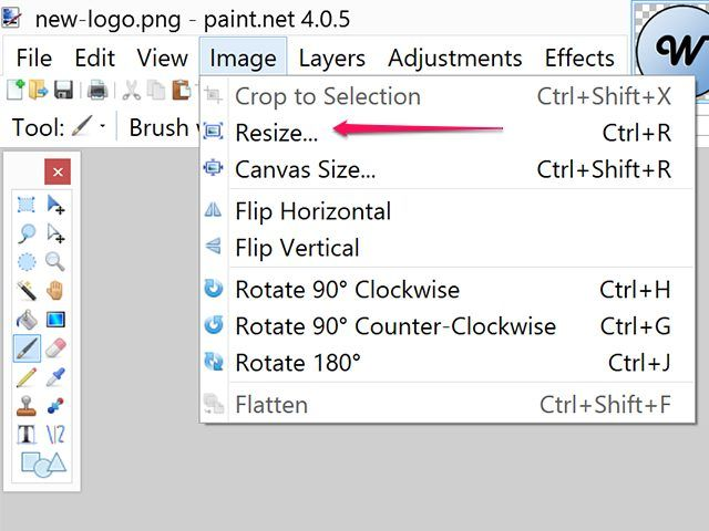 Turn a low-resolution image into a high-resolution image using any of a variety of programs such as Photoshop, GIMP or Paint.net.