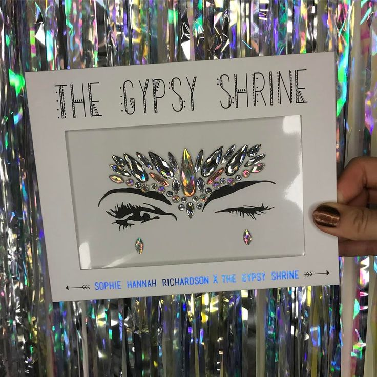 THE GYPSY SHRINE x SOPHIE HANNAH RICHARDSON Face Jewels!!!! Avaliable at www.thegypsyshrine.com  #FaceJewels #Coachella #MakeUp