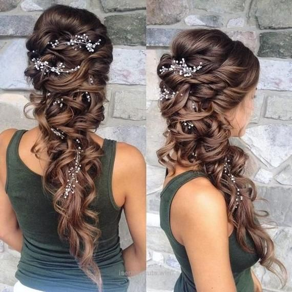 Extra Long Hair Vine Bridal Hair Vine Crystal and Pearl hair vine Wedding Hair Vine Crystal Hair Piece Bridal Jewelry Hair Vine Pearl