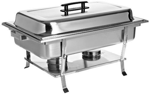Adcraft ROCK-7 8 qt Capacity, Oblong Stainless Steel Rockwell Chafer with Brush Finish by Adcraft. $65.21. These chafers, constructed of stainless steel, are among the most popular in the food service industry. Available in a variety of shapes, sizes and looks for any occasion. Mix and match to add diversity to your catering line. All come complete with water pan, food pan, dome cover and fuel holders.