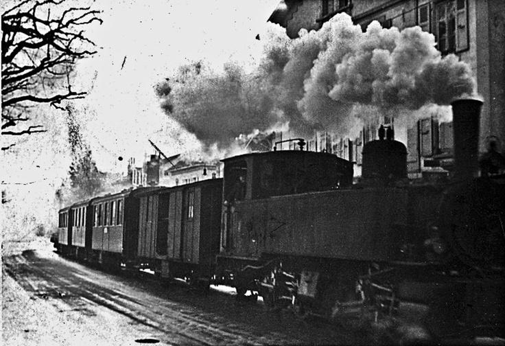 Le LEB à toute vapeur à l'avenue d'Echallens. #Train