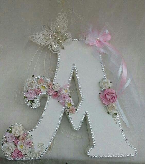 Ideas busy crafting pinterest letras letras decoradas y n meros - Letras grandes decoradas ...