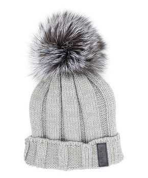 Look at this  zulilyfind! Gray Raccoon Fur Hat by Manière ... a8a89341b3