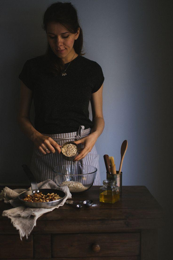 Nutty Basic Granola. Recipe and photograpy by Tanya Balyanitsa (more on Honeytanie.com)