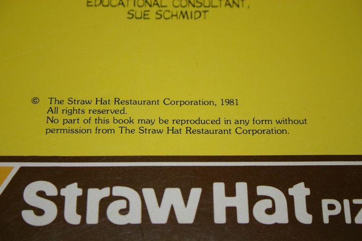 Straw Hat's Fun Book 1981 Straw Hat Pizza - 3