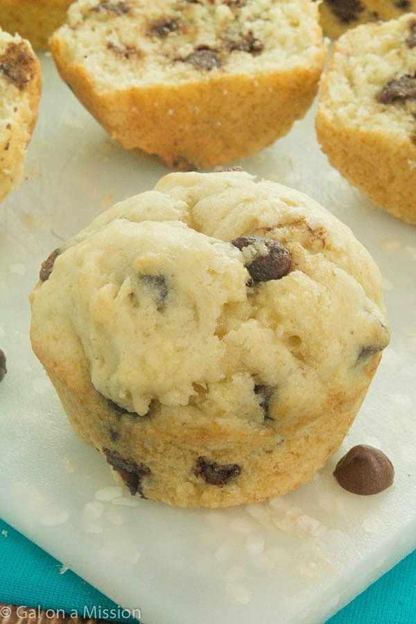 Easy Chocolate Chip Muffins Recipe - So moist and delicious! | Gal on a Mission