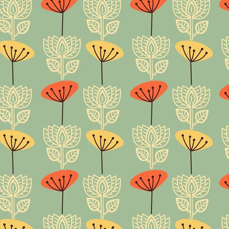 Springtime in Oslo fabric by rhubarbinthegarden on Spoonflower - custom fabric